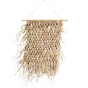 Madam Stoltz Wandbehang mit Bambusstab S