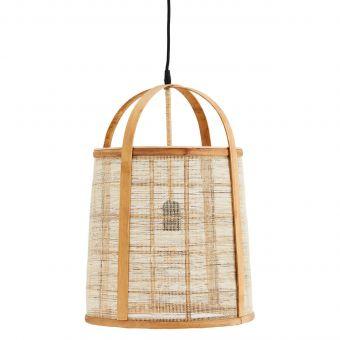 Madam Stoltz Lampe Bambus & Leinen
