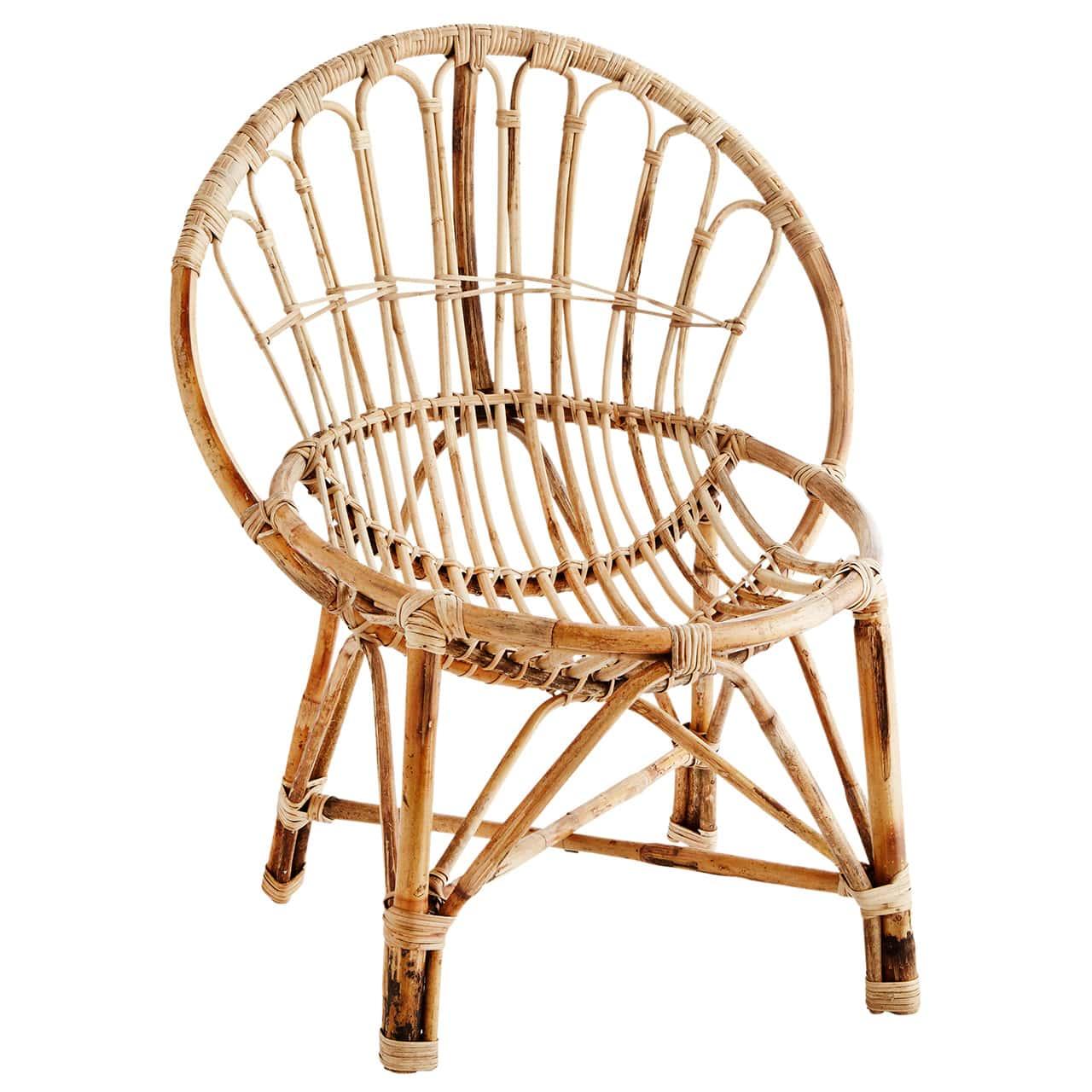 madam stoltz loungestuhl bamboo natural | lunoa