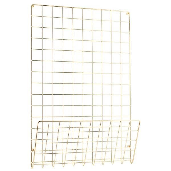 House Doctor Pinnwand Mesh gold