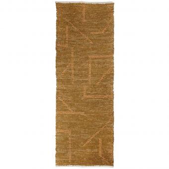 HKliving Teppich Handwoven senf-honig