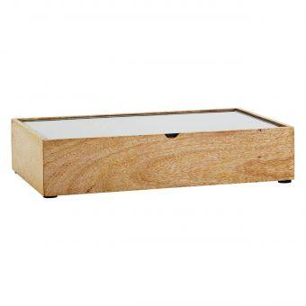 Madam Stoltz Holzbox mit Glas M