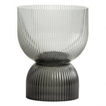 Nordal Vase & Kerzenständer Riva grau M