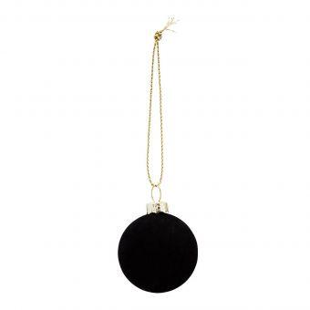 Madam Stoltz Samt-Kugel schwarz 4 cm