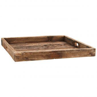 Madam Stoltz Tablett Recycled Wood seitlich