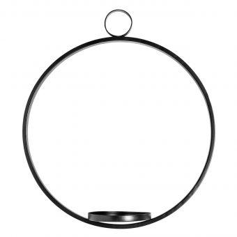 Nordal Kerzenhalter Ring schwarz