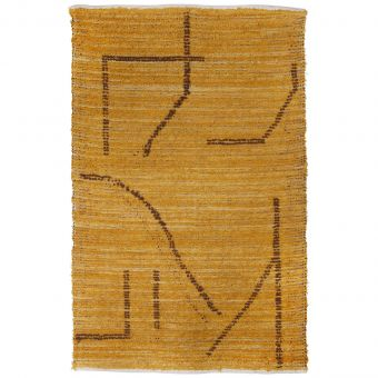 HKliving Teppich Handwoven ocker-braun
