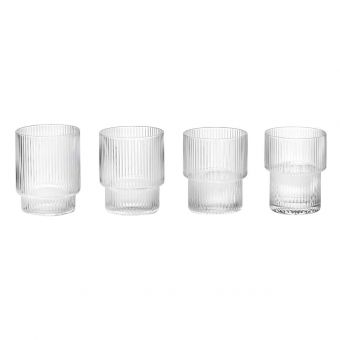 Ferm Living Glas Set Ripple
