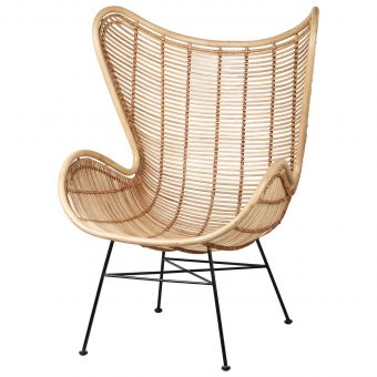 HK Living Rattan Egg Chair natur