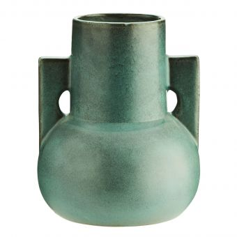 Madam Stoltz Terracotta Vase grün