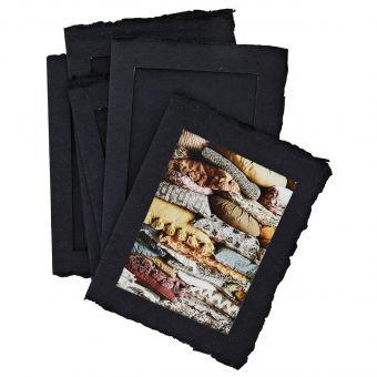 Madam Stoltz Papier-Bilderrahmen Set schwarz