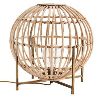 Madam Stoltz Tischlampe Bambus Globe