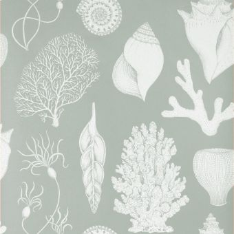 Ferm Living Tapete Shells aqua Detail