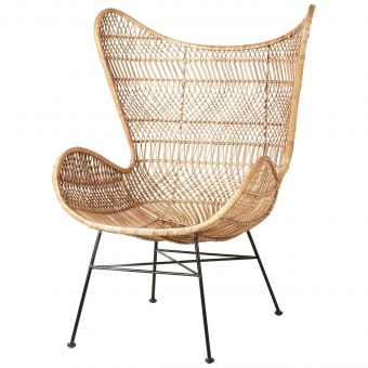 HK Living Rattan Egg Chair Bohemian