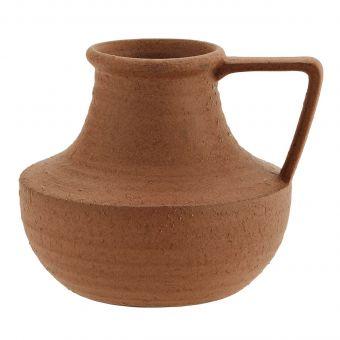 Madam Stoltz Vase mit Henkel rost L