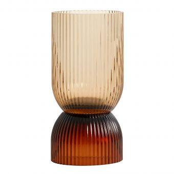 Nordal Vase & Kerzenständer Riva braun S