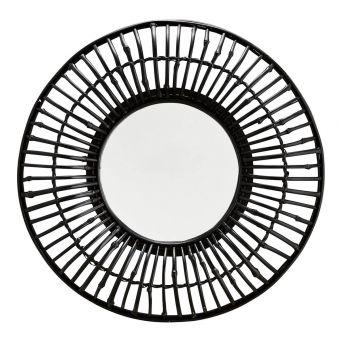 Madam Stoltz Spiegel Bambus schwarz 60 cm
