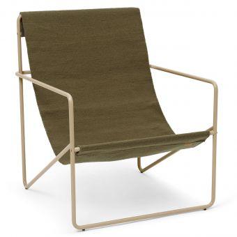 Ferm Living Desert Chair olive-cashmere