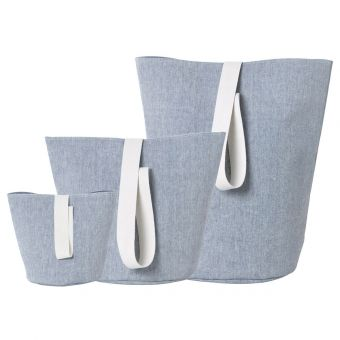 Ferm Living Korb Chambray blau