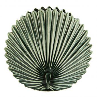 Madam Stoltz Vase Blatt grün