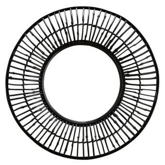 Madam Stoltz Spiegel Bambus schwarz 80 cm