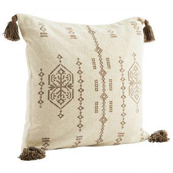 Madam Stoltz Kissen Embroidery ecru