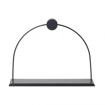 Ferm Living Wandregal Bad schwarz
