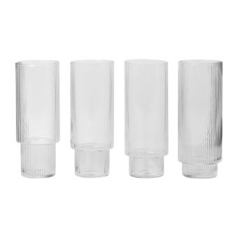 Ferm Living Longdrink Glas Set Ripple