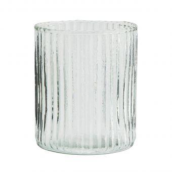 Madam Stoltz Trinkglas Grooved
