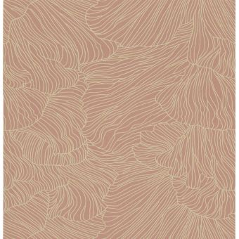 Ferm Living Tapete Coral rose Detail