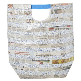Rice Tasche Newspaper blau