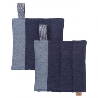 Ferm Living Topflappen Set Denim