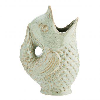 Madam Stoltz Steingut Vase Fisch