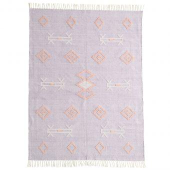 Madam Stoltz Teppich Handwoven flieder