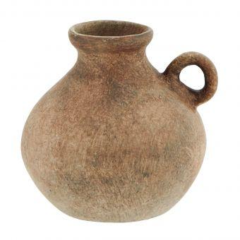 Madam Stoltz Terracotta Vase rose-braun