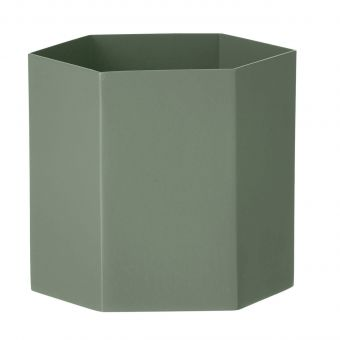 Ferm Living Blumentopf Hexagon dusty green L