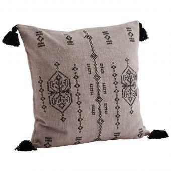 Madam Stoltz Kissen Embroidery greige