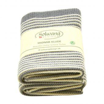 Solwang Wischtuch Set Stripe grau