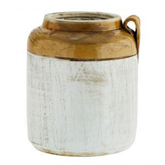 Madam Stoltz Steingut Vase Jar Recycled