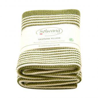 Solwang Wischtuch Set Stripe oliv