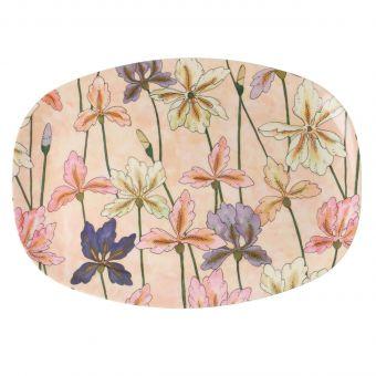 Rice Melamin Teller Iris oval
