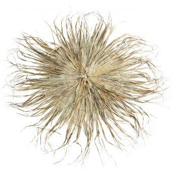 Madam Stoltz Wandbehang Palmblatt rund