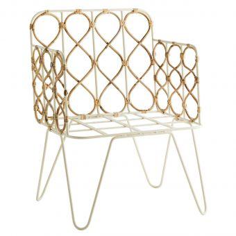 Madam Stoltz Sessel Metall & Bambus