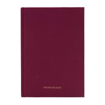 Monograph Notizbuch Ruled bordeaux