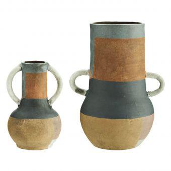 Madam Stoltz Terracotta Vase bunt