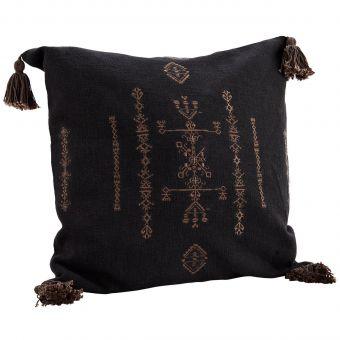 Madam Stoltz Kissen Embroidery schwarz