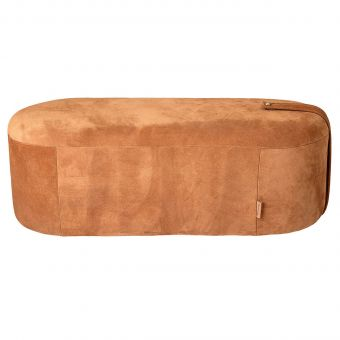 Bloomingville Leder-Pouf Time