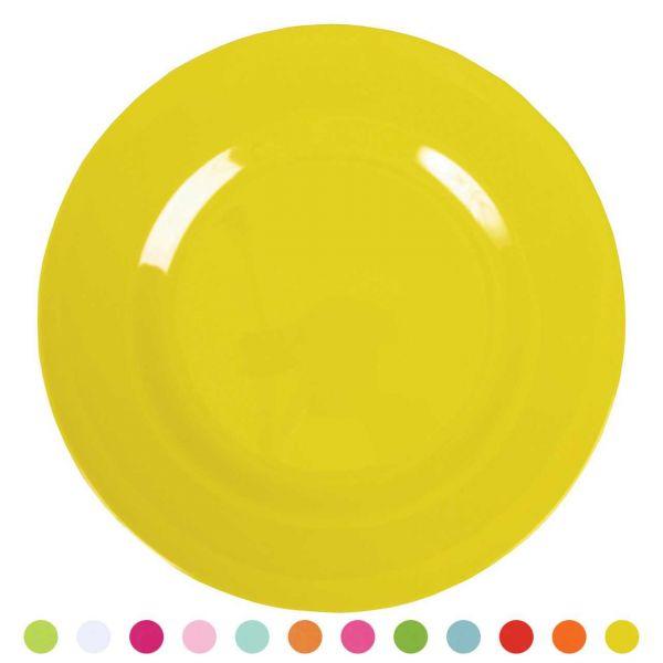 Rice Melamin Dessert Teller gelb