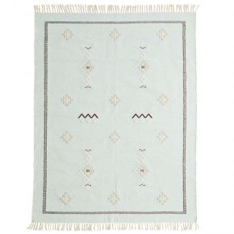 Madam Stoltz Teppich Handwoven mint