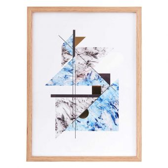 House Doctor Bild Abstract Marble blau